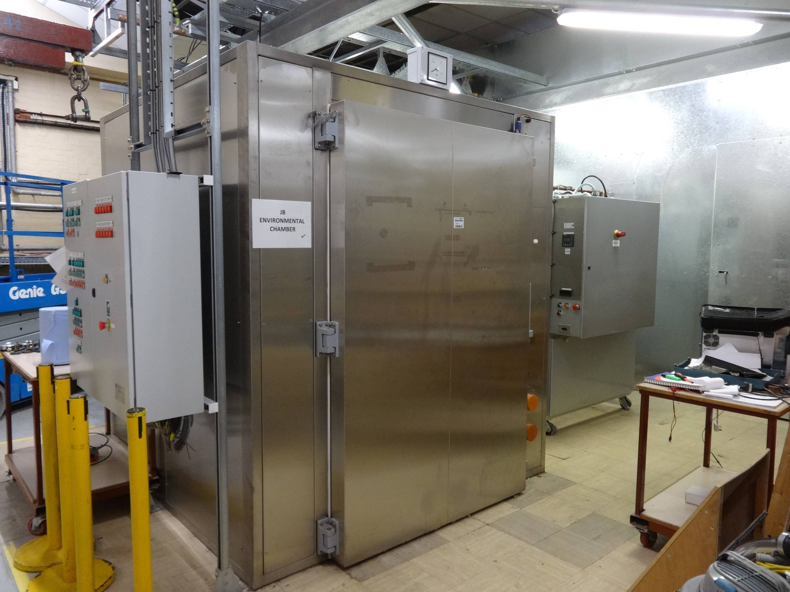 JB Environmental Chamber fitted with Pannel Controller and Keep Kite KVC1 Air Cooled Condenser