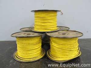Lot Of 5 Spools Of Whitney Blake 16 AWG 600V Yellow Wire