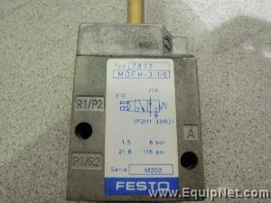 Lot of 5 Festo Solenoid Valves Model 7877