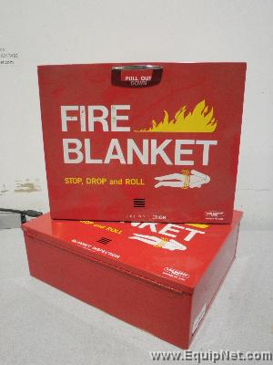 Lot of 2 Lab Safety Supply Fire Blanket Wall Mount Cabinets