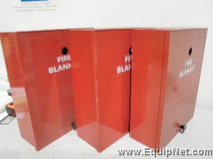 Lot of 3 Fire Blanket Wall Mount Cabinets