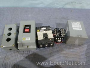 Lot of 9 Square D Components