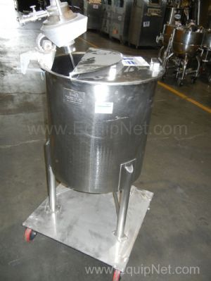 B&G Machine 50 Gallon Stainless Steel Tank with Air Operated Lightnin Mixer