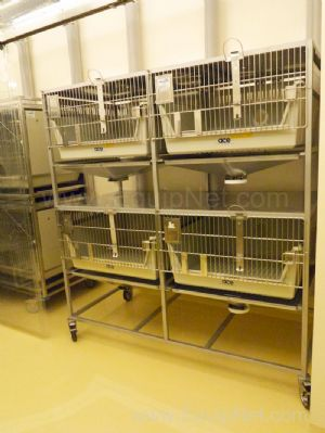 Allentown Stainless Steel Mobile Rabbit Cage System