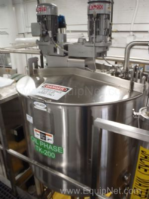 Walker Stainless 125 Gallon Jacketed Mixing tank