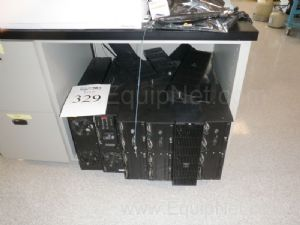 Large Lot of Heavy Duty APC Uninterruptable Power supplies and Battery Packs