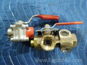 Lot of 2 Assorted Drain Valves