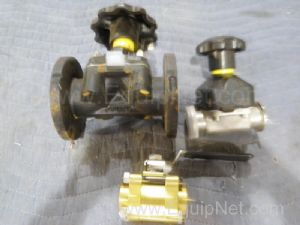 Lot of 3 Assorted Valves