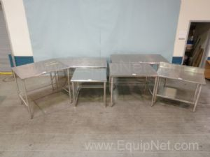 Lot of 6 Assorted Size Stainless Steel Tables