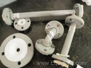 Lot of Assorted PVC Lined Piping
