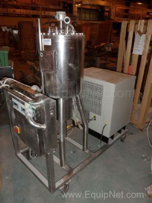 CMV Millipore Mobile Ultrafiltration Skid fitted with 45 litre chilled water jacketed Vessel
