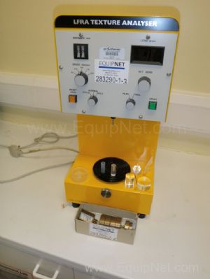 CNS Farnell LFRA TA1000 Texture Analyser with Calibration weight and various shaped pressure heads