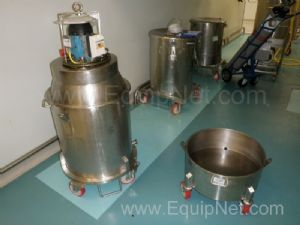 Fryma Mobile Stainless steel DeAerator unit mounted on larger Drum plus spare Lower Level Base