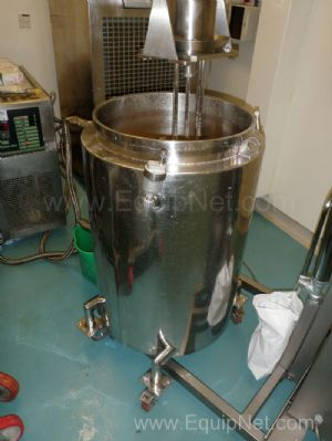 1 Lot of 2 off Mobile Open 170 Litre Jacketed Stainless Steel Vessels with Tricool and UTAC systems
