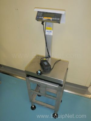 Sartorius QC 35 EDE S Freestanding Stainless Steel Platform Weighscales with upstand fitted Control