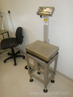 Sartorius QC 35 EDE-S Freestanding Stainless Steel Platform Weighscales with upstand fitted Control