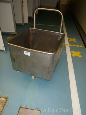 1 Lot of 26 off Stainless steel mobile 200 Litre Storage transport totes