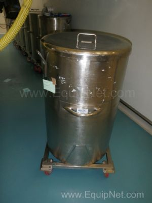 1 Lot of 9 off 280 Litre Stainless steel electrically heated mobile storage transfer tanks with lids