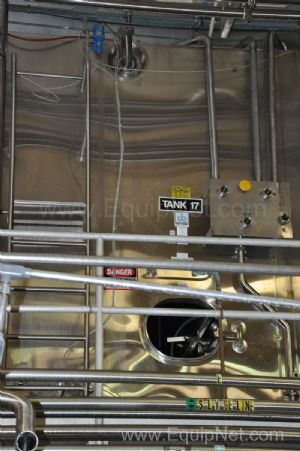 Cherry Burrell 5000 Gallon Jacketed Stainless Steel Lined Tanks