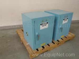 Lot of 2 Justrite 25042B Acid and Corrosives Storage Cabinet
