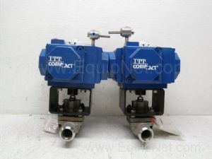 Lot of 2 ITT model H45 Pneumatic Actuator Equipped with one and one-half inch Ball Valve