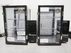 Lot of 2 Sanplatec DryKeeper Vertical Dessicator Cabinets