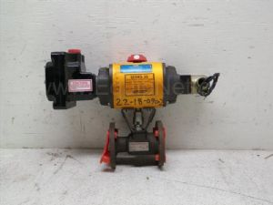 Worcester Controls series 39 Pneumatic actuator with 1-inch ball valve and solenoid valve
