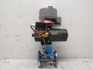 Jamesbury Spring Return Pneumatic Actuator with .75 inch Ball Valve and solenoid Valve