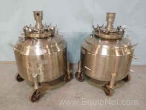 Lot of 2 Lee Industries Steam Jacketed 260 Liter Vessels