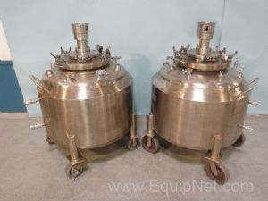 Lot of 2 DCI 260 Liter Steam Jacketed Vessels