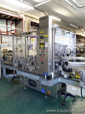Krones bottle sleever with Krones SK2000 heat tunnel (2002)