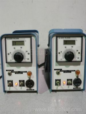 Lot of 2 Ace Glass HL12106-10 RTD Temperature Controllers