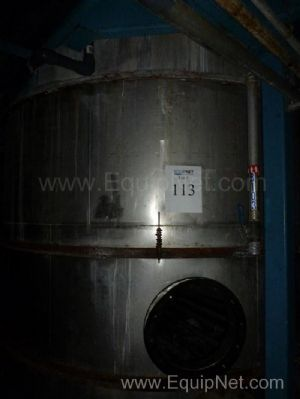 7800 Gallon Stainless Steel Tank With Agitator And Coils