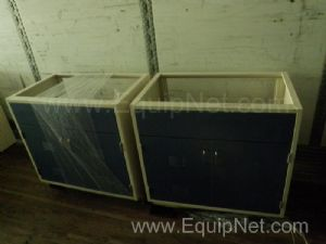 Lot of 5 Liquid Bottle Reservoir Storage Cabinets