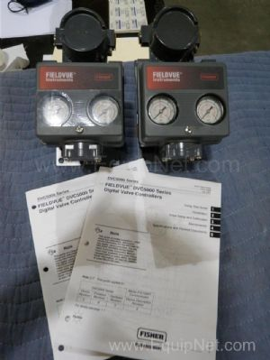 Lot of 2 Fisher  DVC 6000 Series Digitaaal Valve Control