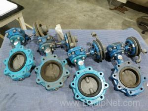 Lot of 4 Grinnell 4'' Butterfly Valve