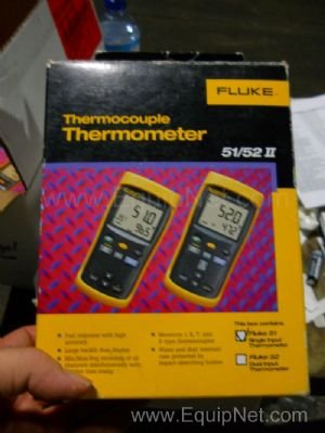 Lot of 2 Fluke 51 Thermocouple Thermometers