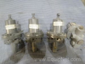 Lot of 4 Fisher Assorted Diaphragm Valves