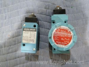 Lot of 2 Micro Switch Heavy Duty Limit Switch