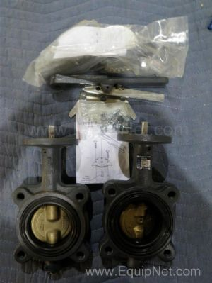 Lot of 4 Milwaukee Valve CL Series 3'' Butterfly Valves with Kits