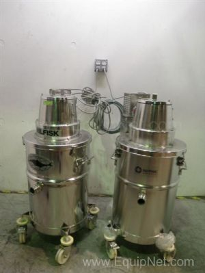 Lot of 2 Nilfisk CWR-75SS Industrial Vacuum Cleaners