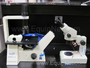 Lot of 2 Assorted Laboratory Microscopes