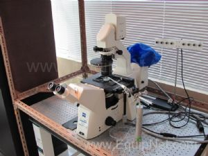 Zeiss Axiovert 200 Inverted Microscope with Newport Table