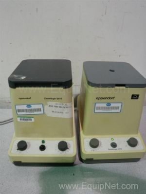 Lot of 2 Assorted Eppendorf Micro Centrifuges