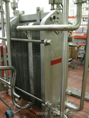 Waukesha Cherry Burrell Thermaflex Stainless Steel Plate and Frame Heat Exchanger - Line 9