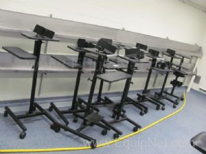 Lot of 11 Versatables Laboratory Computer Stands
