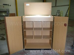 Combined lightbox & storage cabinet
