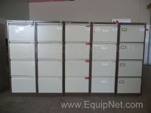 Filing cabinets Bisley 4 drawer - 1 lot of 5