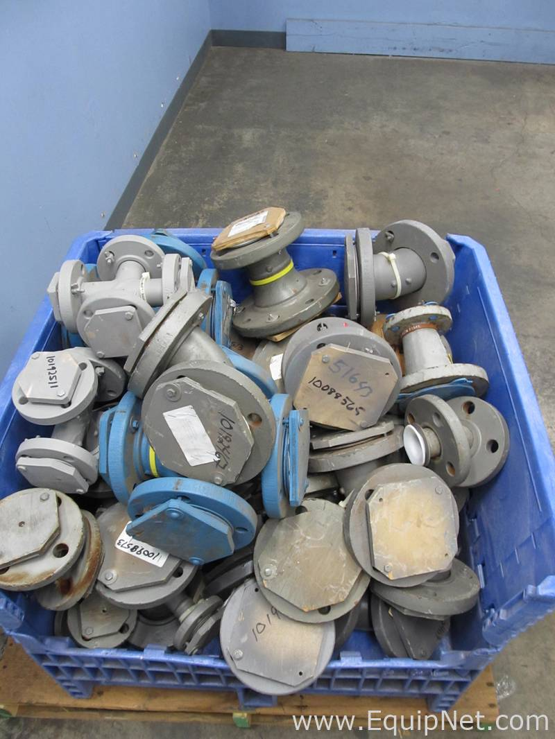 Lot of assorted resistoflex teflon lined piping
