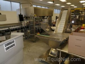 Schubert Dual Lane Robotic Pick and Place Spoon Feeder with Hopper Elevator